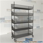 Quantum WRC74-BSK1848C-5 Rolling Wire Basket Supply Shelves wire basket storage system