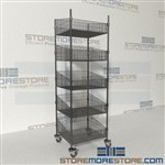 Quantum WRC74-BSK2424C-5 Mobile Basket Supply Wire Shelving medical utility carts