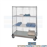 Rolling Supply Wire Shelving Cart