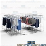 Hanging Compact Racks for Backroom Clothing Storage Shelves Garments Cabinets