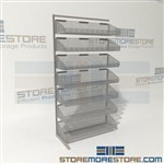 Adjustable Basket Shelving Wire Bin Rack Shelves Shelf Racking the wire construction minimizes dirt accumulation and allows air circulation on your PAR Inventory Items the Quantum WS70-SS36AD-7S with Chrome Wire Bins is perfect for Hospitals, Supply rooms