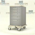 Rolling Six Healthcare Hospital Cart | Surgical Equipment Hospital Cart