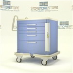 Anesthetic Cart | Traditional 5 Drawer Hospital Cart | Isolation Cart