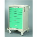 Six Drawer Emergency Room Crash Cart | defibrillator Cart