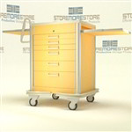 Portable Aluminum Anesthesia Cart Cabinet | Surgical Equipment Anesthesia Cart Cabinet