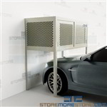 Car Storage Parking Garages Over Car Security Lockers Condo Locking Cabinets