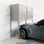 Parking Space Storage Lockers Condominium Resident Cabinets Car Bonnets Locking