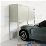 Parking Garage Storage Condo Lockers Tenant Cabinets Over Car Bonnets Apartments