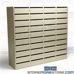 Mailroom Individual Locking Mail Shelves Office Services Mail Sorting Cubbies