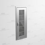 "Hospital Stainless Glass Door Cabinet (1' 9""W x 1' 6""D x 5' 0""H), #SMS-58-SH211863R"