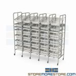 Rolling Drawer Storage Rack Stocking Bulky Parts