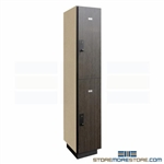 Double-Tier Wood Laminate Locker