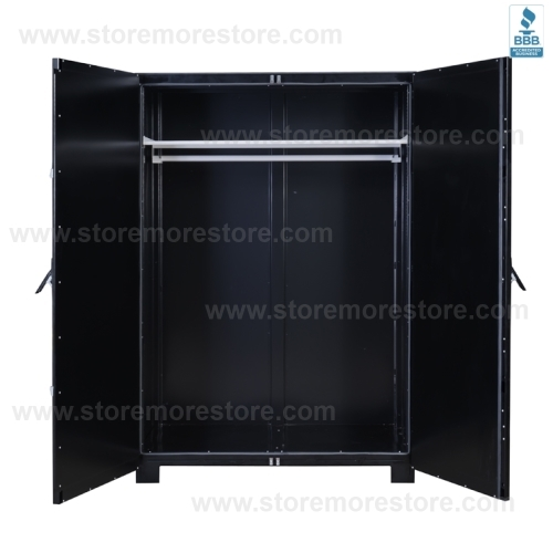 museum cabinet for hanging garments costumes historic
