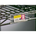 "43"" Clear Plastic Label Holders for Standard Shelving. Fits 48"" Shelf Length, #SMS-69-A208752"