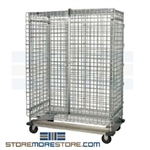 "29-3/4"" x 52-7/8"" x 69"" Stainless Steel Dolly Truck, Full-Size Security Unit, #SMS-69-DTSC2448S"