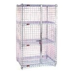 "17-1/4"" x 33-1/4"" x 67"" Stainless Steel Stationary, Full-Size Security Unit, #SMS-69-SC1430S"