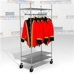 Mobile Racks Hanging Uniforms Garments Coats Wire Shelving Carts Eagle URS1836C