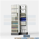 Filing Cabinets for Legal Red Rope File Pockets, Space Saving Storage Shelving