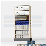 Sliding Pull-out Storage Cabinets for Parts Bins Supplies Cartons & Boxes