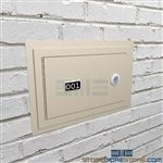 Single Flush Mount Wall Hand Gun Locker