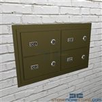 Flush Mount Law Enforcement hand gun and pistol security locker compartments.
