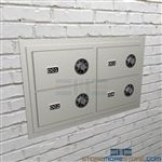 Sidearms security lockers wall mounted cabinets