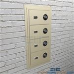 Pistol security compartments wall mounted lockers