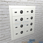 Temporary firearm storage of pistols and sidearms will be secure in these wall mounted handgun cabinets.
