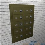 Wall mounted Pistol Lockers heavy-duty welded