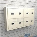Ammo wall lockers for Police Station security of sidearm storage and small arms.