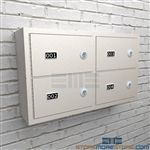 Weapon wall storage lockers for Police gun security and safety.