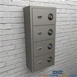 Wall mounted sidearm lockers are security cabinets that hang on the wall storing pistols and handguns.