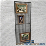 Wall Mounted Art Rack Wire Mesh Display Panels