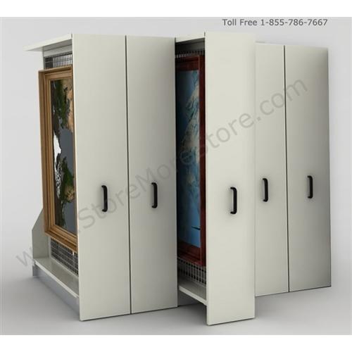 Storage Racks | Steel Art Storage Shelving | Hanging Artwork Storage ...