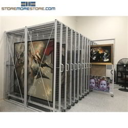 These high capacity art racks are a perfect storage solution for museums, art galleries, libraries, and university artwork.