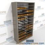 Docket Book Rolling Shelf Wall unit Storage Cabinet for clerks of the court document book storage