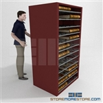 Deed Book Roller Shelf Cabinet for County Records Dual Access Storage Shelving
