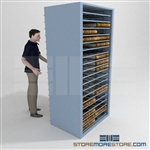 Steel Roller Cabinets for County Deed Books Clerk Courthouse Storage