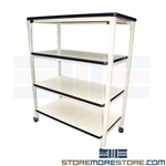 assembly shelving cart, adjustable utility storage, rolling carts, pro-line shelving, ps1848pl