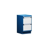 Workbench Pedestal Cabinet with two drawers L3ABG-2809 perfect for repair benches storing tools and parts in maintenance departments and electronic work areas where equipment repairs are done.