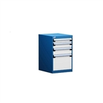 Tech repair bench drawer pedestal cabinets L3ABG-2819 perfect for technical workstations, labs, kitting, manufacturing, and research benches for storing small part and tools for assembly, quality control, and technical work.