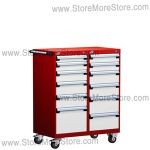 Double Drawer Mobile Parts Cabinet L3BEG-4001B