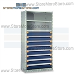 Shelving with Modular Drawers R5SEC-7548012 | Industrial Shelves 36 x 18 x75