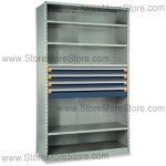 Modular Drawers in Shelving Units R5SHE-8718012 | Industrial Shelves 48 x 24 x 87