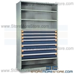 Industrial Modular Drawer Shelving R5SHE-8736012 | Industrial Shelves 48 x 24 x 87