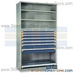 Modular Drawers in Shelving Units R5SHE-8748092 | Industrial Shelves 48 x 24 x 87