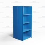 "Closed Freestanding Industrial Storage Shelving, Starter Unit, 5 Shelves (36"" Wide x 36"" Deep x 87"" High), #SMS-81-SHD2005B"