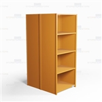 "Closed Freestanding Industrial Storage Shelving, Starter Unit, 5 Shelves (36"" Wide x 48"" Deep x 87"" High), #SMS-81-SHD2006B"