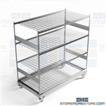 Warehouse Storage Rack Wheels Long Shelves