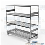 Heavy-Duty Storage Racks Wheels Rolling Shelves